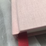 luxurious book cloth and your choice of ribbon markers