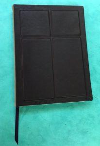 Custom Designed, eggplant died goatskin covered Prayer Journal